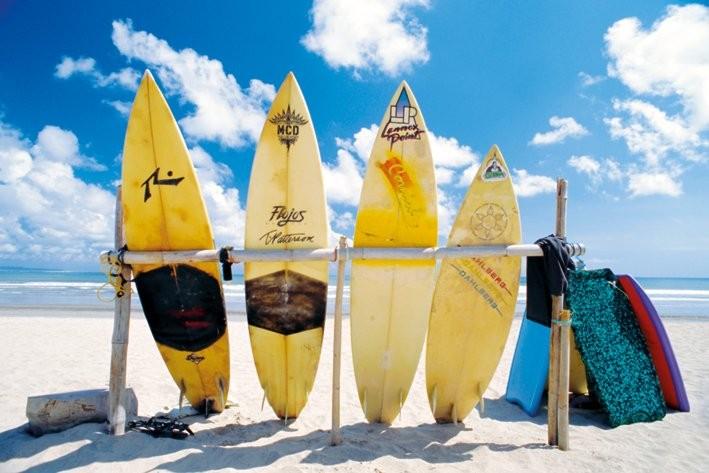 Sun sea & surf Affiche