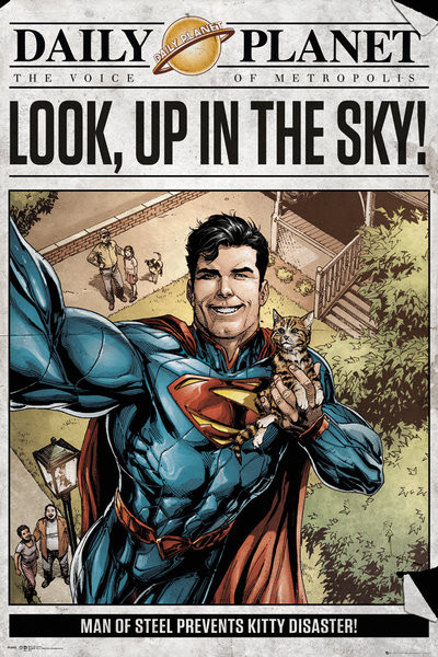 Superman - Daily Planet Poster