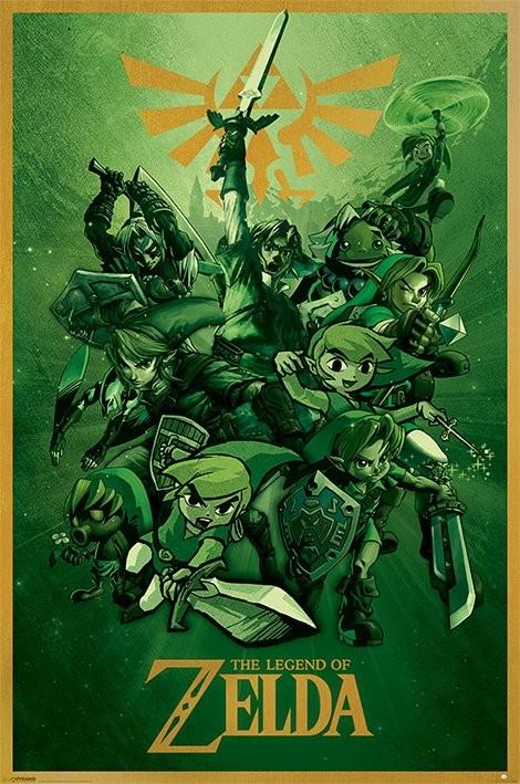The Legend Of Zelda - Link Affiche