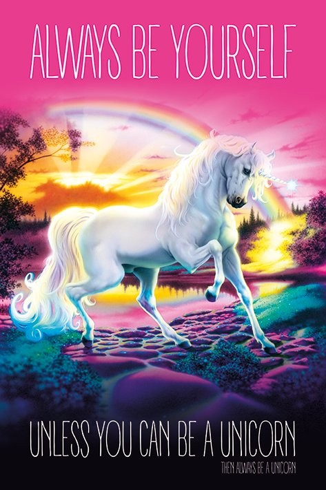 Unicorn - Always Be Yourself Affiche