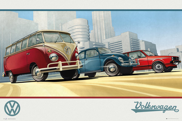 VW Camper - Illustration Poster