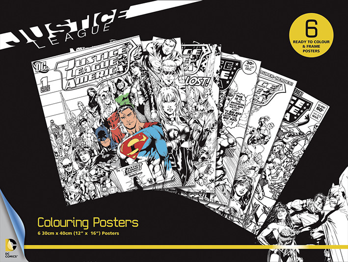 Afișe pentru colorat   DC Comics - Justice League