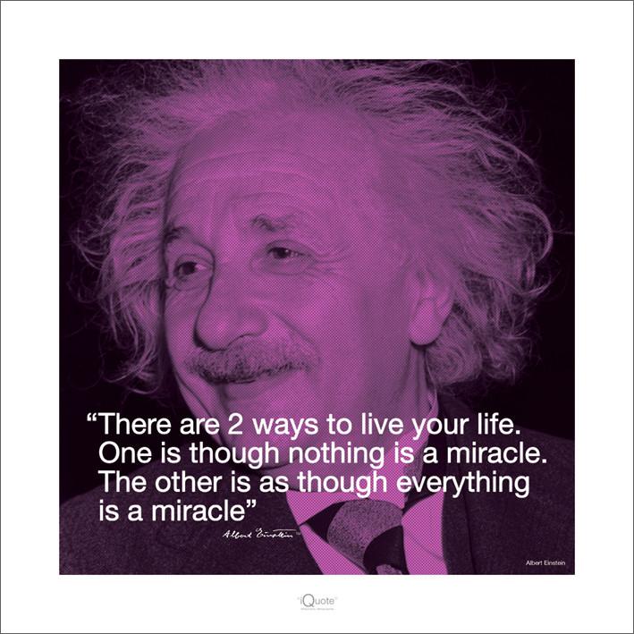 Albert Einstein - Iquote Festmény reprodukció