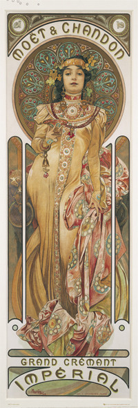 Alfons Mucha - moet & chandon - плакат (poster)