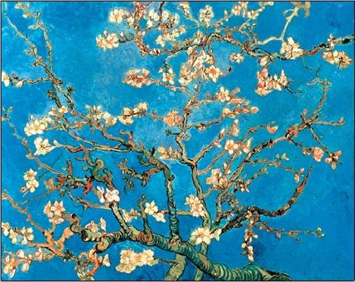 Almond Blossom - The Blossoming Almond Tree, 1890 Festmény reprodukció