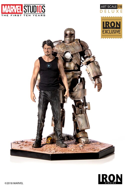 Figurine MCU 10 Years - Tony Stark & Mark I