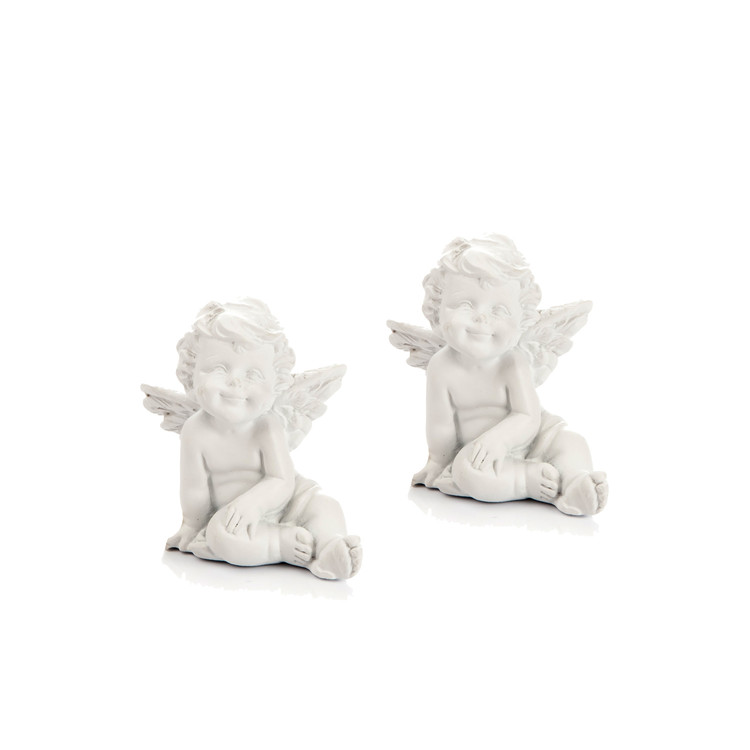 Angel Sitting, 5 cm, set of 2 pcs Home Decor