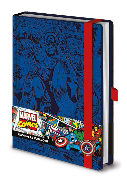 Anteckningsbok Marvel - Captain America A5 Premium