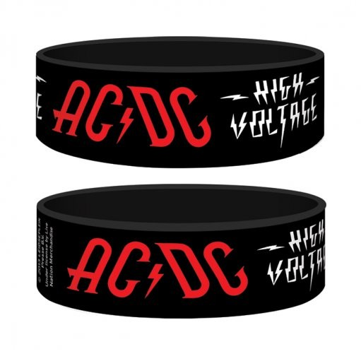AC/DC - high voltage Armband silikon