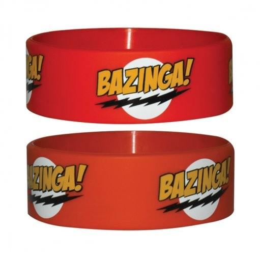 BAZINGA - red Armband silikon