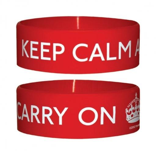 KEEP CALM AND CARRY Armband silikon