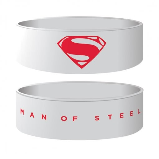 MAN OF STEEL - logo Armband silikon