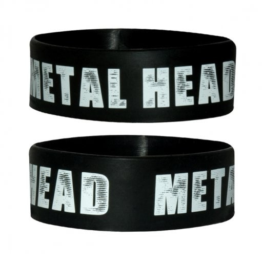 METAL HEAD Armband silikon