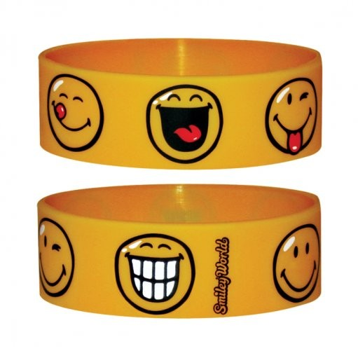SMILEY - face Armband silikon