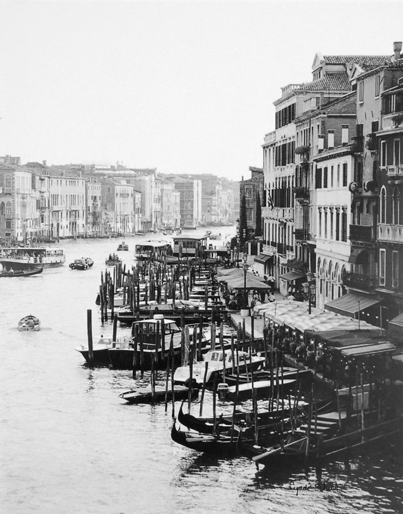 Array of Boats, Venice Festmény reprodukció