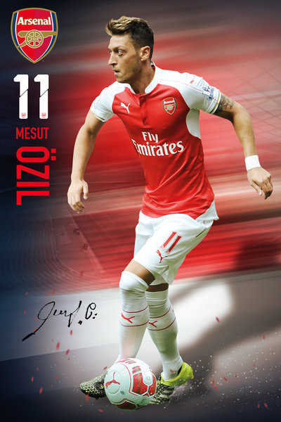 Arsenal FC - Ozil 15/16 - плакат (poster)