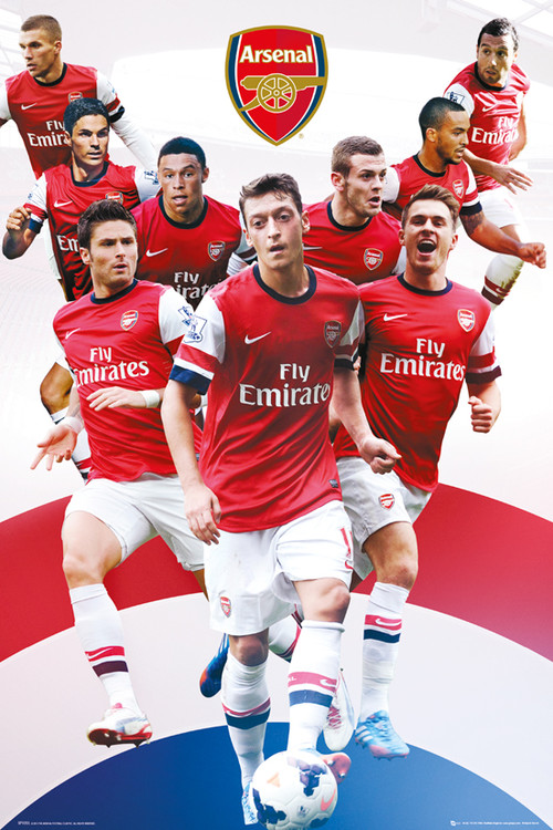 Arsenal FC - Players 13/14 плакат