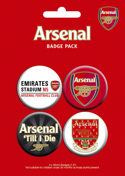 ARSENAL - pack 2 Insignă