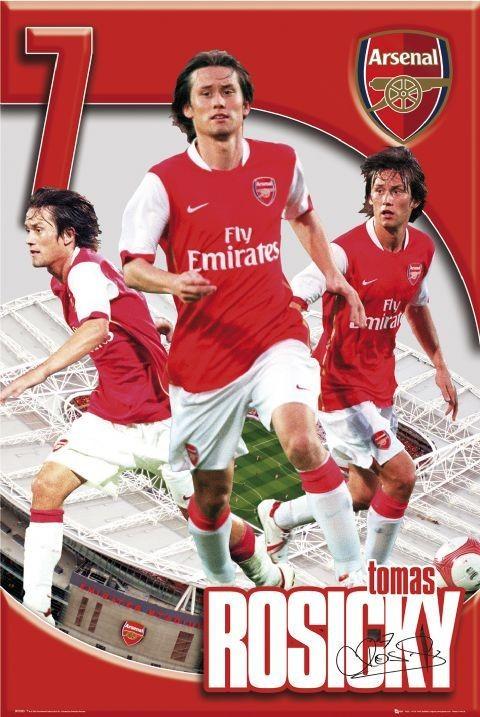 Arsenal - Tomáš Rosický 06/07 - плакат (poster)