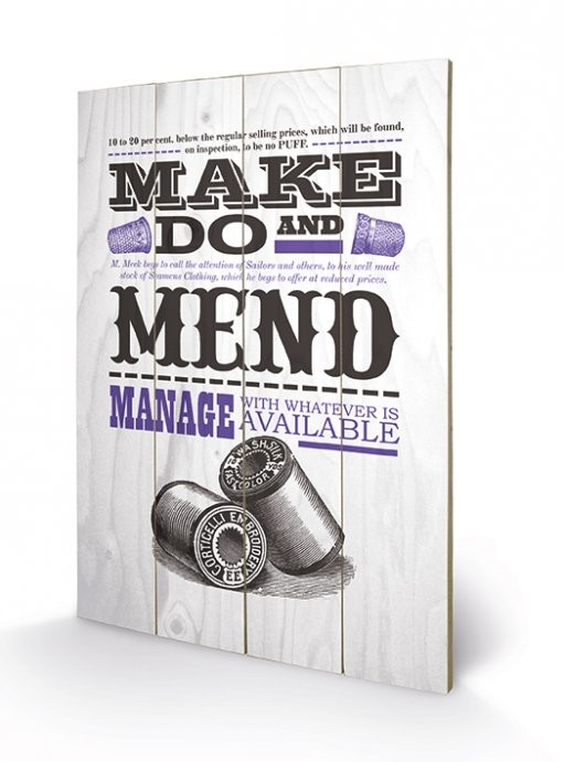 Cuadro de madera Asistended - Make Do And Mend
