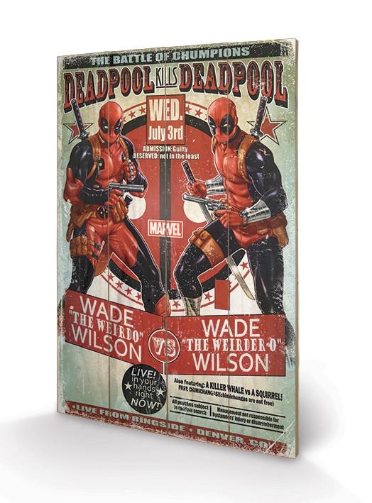 Art en tabla Deadpool - Wade vs Wade