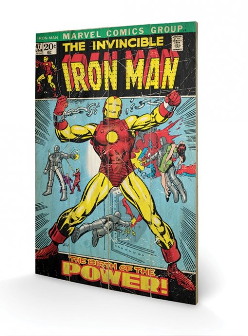 Cuadro de madera Iron Man - Birth Of Power
