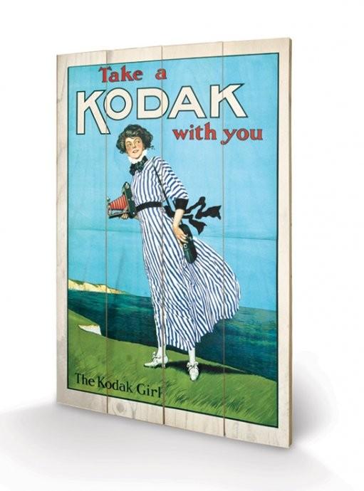 Cuadro de madera Kodak Girl