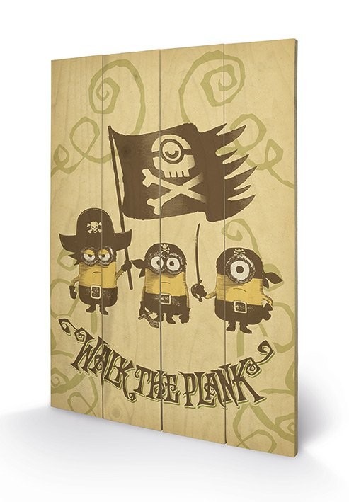 Art en tabla Minions (Gru: Mi villano favorito) - Walk The Plank