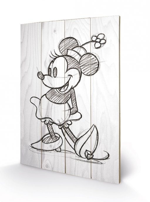 Cuadro de madera Minnie Mouse - Sketched - Single
