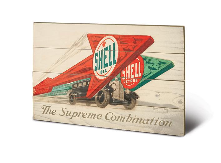 Cuadro de madera Shell - The Supreme Combination