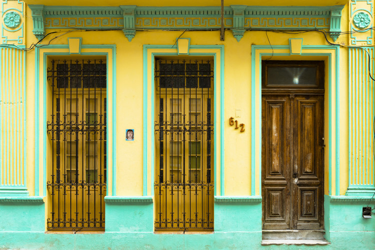 Kunstfotografie 612 Street Havana - Yellow and Green