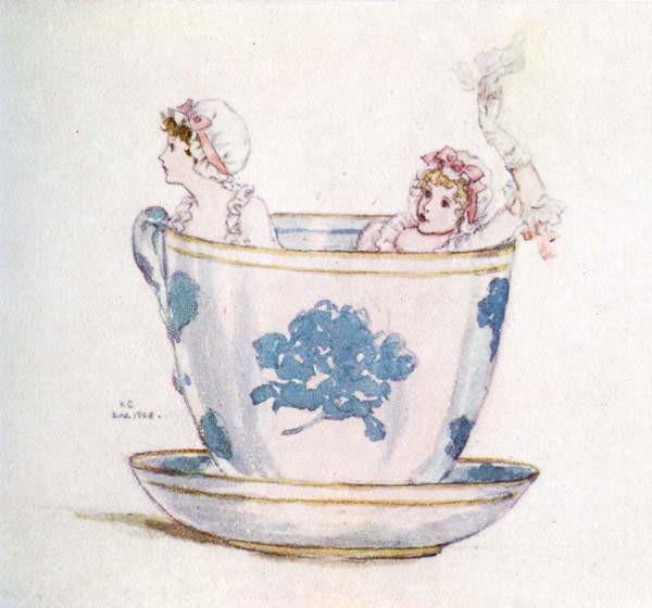Reproducción de arte 'A calm in a  tea-cup' by Kate Greenaway