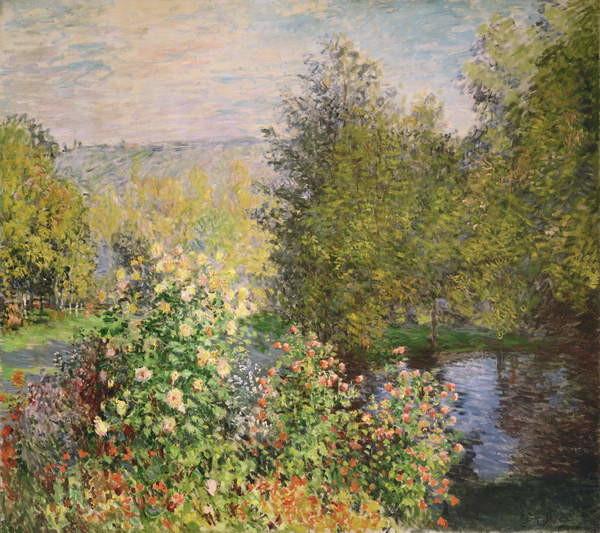 Reproducción de arte A Corner of the Garden at Montgeron, 1876-7