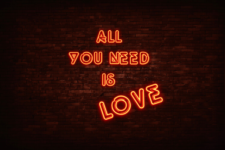 Arte fotográfico All you need is love