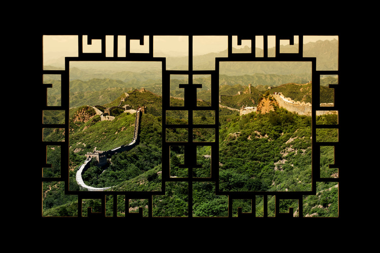 Arte fotográfico Asian Window - Great Wall of China