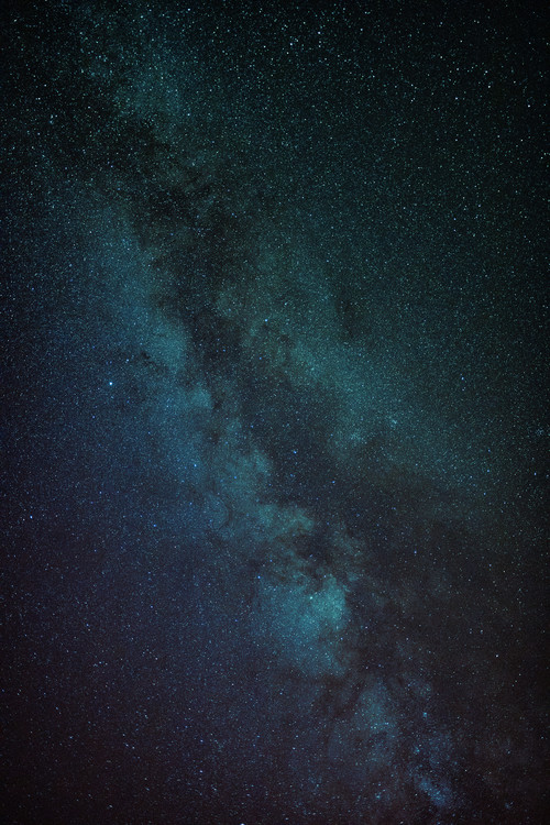 Kunstfotografie Astrophotography of blue Milky Way III