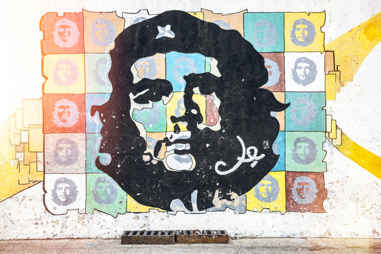 Kunst fotografie Che Guevara mural in Havana