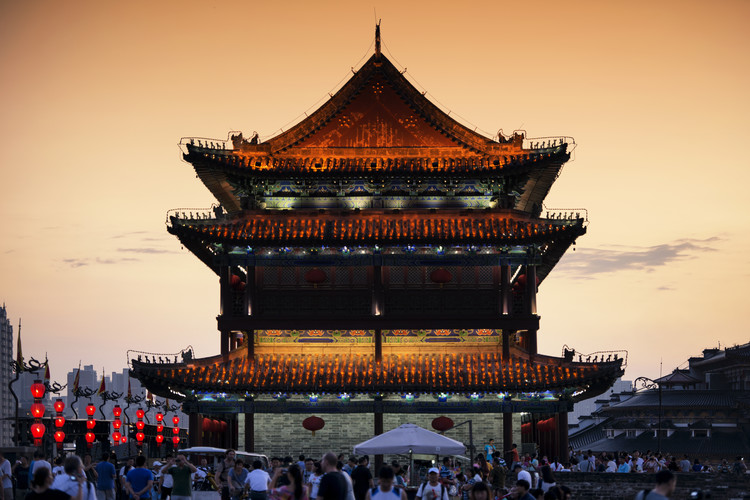 Arte fotográfico China 10MKm2 Collection - Xi'an Temple