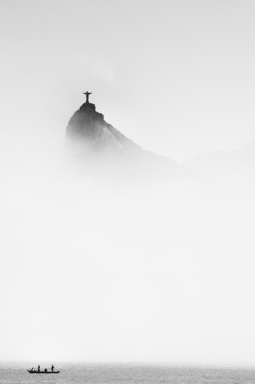 Arte fotográfico Cristo in the mist