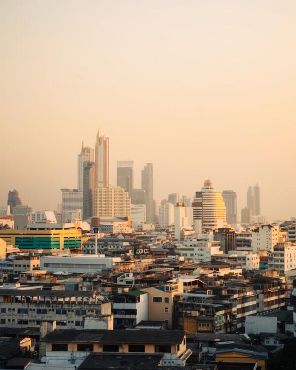 Arte fotográfico Dusk in Bangkok