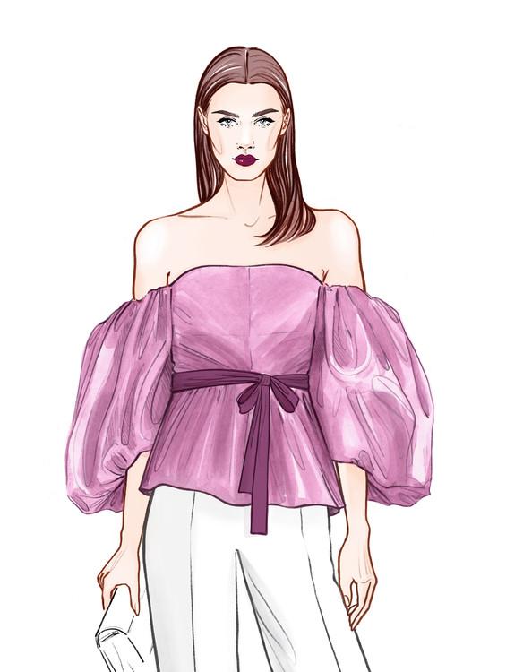 Illustration Fashionable Business girl