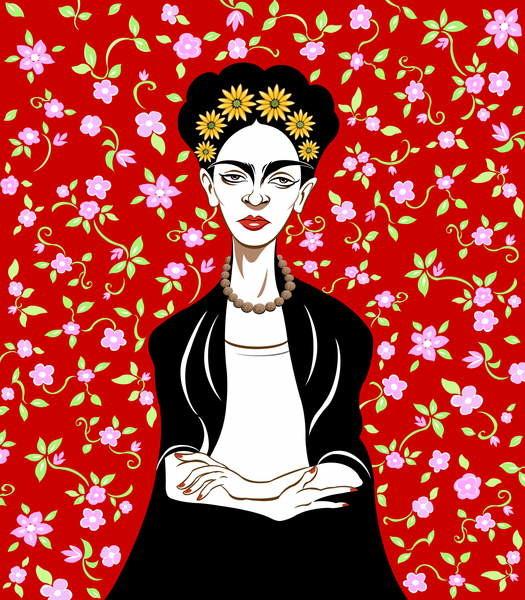 Frida Kahlo, 2018 Kunsttryk Reproduktion, Billede på Europosters.dk
