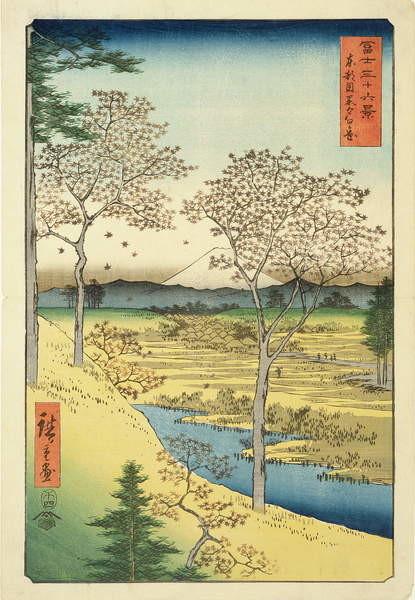 Reproducción de arte Fuji from Yuhi-Ga, Megwo, No.10 from the series '36 Views of Mt.Fuji' ('Fuji Saryu Rokkei'),