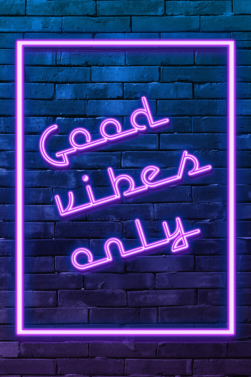 Arte fotográfico Good vibes only