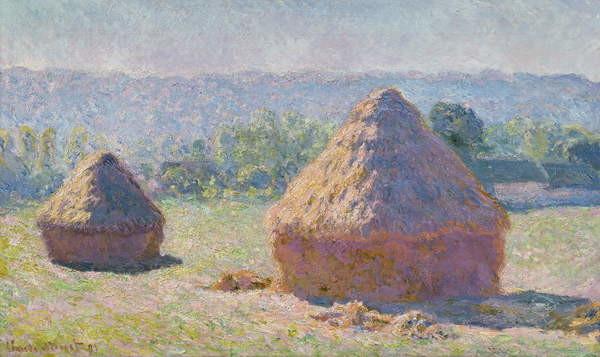 Reproducción de arte Grainstacks at the end of the Summer, Morning effect, 1891