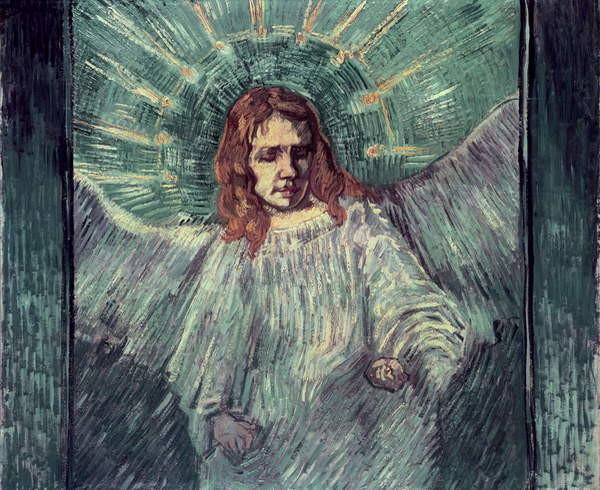 Reproducción de arte Head of an Angel, after Rembrandt, 1889