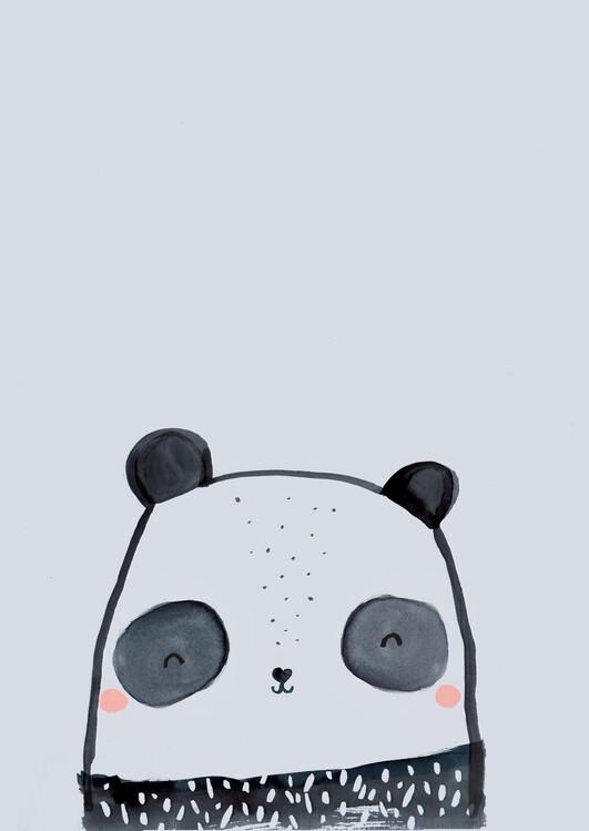 Ilustración Inky line panda