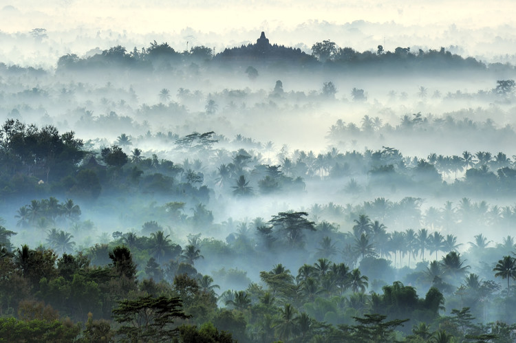 Photographie d'art Misty Borobudur