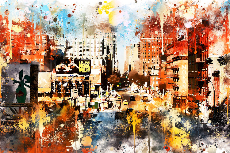 Arte fotográfico NYC Watercolor 115