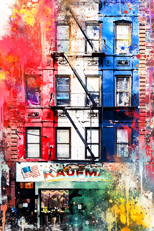 Arte fotográfico NYC Watercolor 152